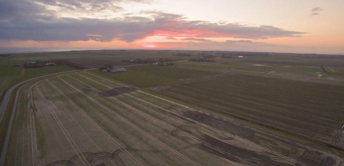 Drohnenflug über Nordstrand - Sonnenuntergang